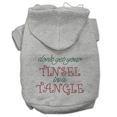 Mirage Pet Products Tinsel in a Tangle Rhinestone Hoodies Grey L (14)