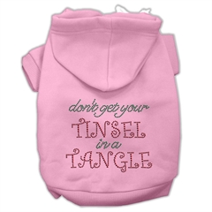 Mirage Pet Products Tinsel in a Tangle Rhinestone Hoodies Pink S (10)