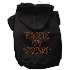 Mirage Pet Products Trick or Treat Rhinestone Hoodies Black L (14)