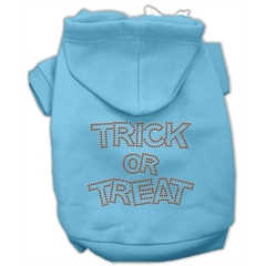 Mirage Pet Products Trick or Treat Rhinestone Hoodies Baby Blue XS (8)