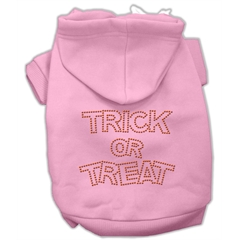 Mirage Pet Products Trick or Treat Rhinestone Hoodies Pink XXXL(20)