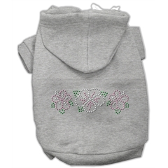 Mirage Pet Products Tropical Flowers Rhinestone Hoodies Grey XS (8)