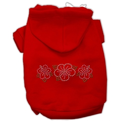 Mirage Pet Products Tropical Flowers Rhinestone Hoodies Red L (14)