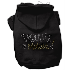 Mirage Pet Products Trouble Maker Rhinestone Hoodies Black S (10)