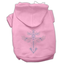 Mirage Pet Products Warrior's Cross Studded Hoodies Pink XXXL(20)