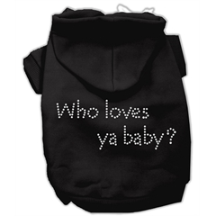 Mirage Pet Products Who loves ya baby? Hoodies Black XL (16)