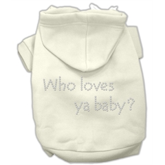 Mirage Pet Products Who loves ya baby? Hoodies Cream L (14)