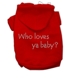Mirage Pet Products Who loves ya baby? Hoodies Red XS (8)