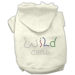 Mirage Pet Products Wild Child Rhinestone Hoodies Cream S (10)