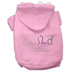 Mirage Pet Products Wild Child Rhinestone Hoodies Pink XS (8)