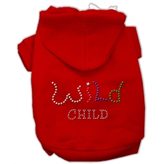 Mirage Pet Products Wild Child Rhinestone Hoodies Red L (14)