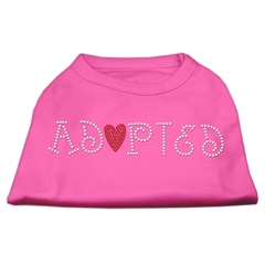 Mirage Pet Products Adopted Rhinestone Shirt Bright Pink XS (8)