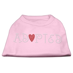 Mirage Pet Products Adopted Rhinestone Shirt Light Pink S (10)
