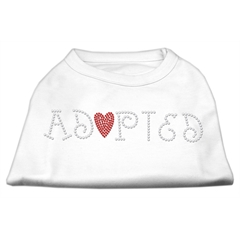 Mirage Pet Products Adopted Rhinestone Shirt White M (12)