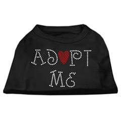 Mirage Pet Products Adopt Me Rhinestone Shirt Black XXL (18)