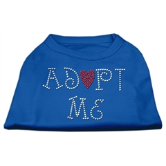 Mirage Pet Products Adopt Me Rhinestone Shirt Blue XL (16)