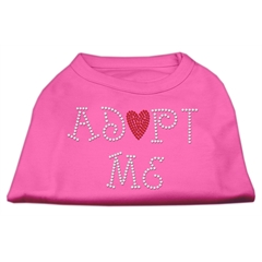 Mirage Pet Products Adopt Me Rhinestone Shirt Bright Pink S (10)