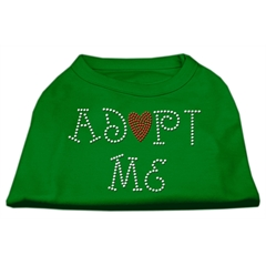 Mirage Pet Products Adopt Me Rhinestone Shirt Emerald Green XXL (18)