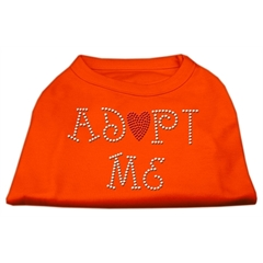 Mirage Pet Products Adopt Me Rhinestone Shirt Orange XXXL (20)