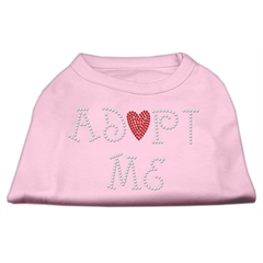 Mirage Pet Products Adopt Me Rhinestone Shirt Light Pink XXL (18)