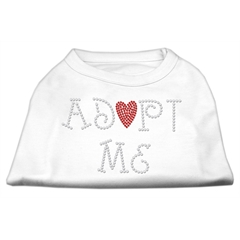 Mirage Pet Products Adopt Me Rhinestone Shirt White XXXL(20)
