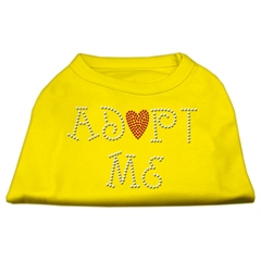 Mirage Pet Products Adopt Me Rhinestone Shirt Yellow XXL (18)