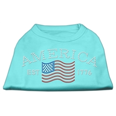 Mirage Pet Products Classic American Rhinestone Shirts Aqua XS (8)