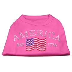Mirage Pet Products Classic American Rhinestone Shirts Bright Pink XL (16)