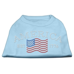 Mirage Pet Products Classic American Rhinestone Shirts Baby Blue M (12)