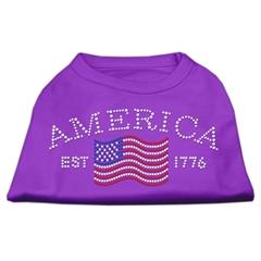 Mirage Pet Products Classic American Rhinestone Shirts Purple XS (8)