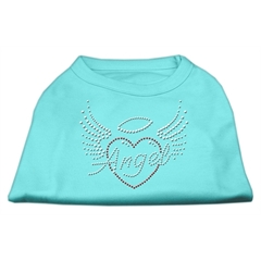 Mirage Pet Products Angel Heart Rhinestone Dog Shirt Aqua XXL (18)