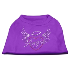 Mirage Pet Products Angel Heart Rhinestone Dog Shirt Purple XS (8)