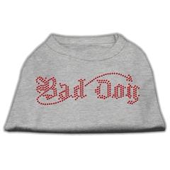 Mirage Pet Products Bad Dog Rhinestone Shirts Grey XS (8)