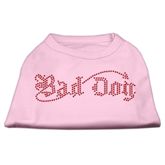 Mirage Pet Products Bad Dog Rhinestone Shirts Light Pink M (12)