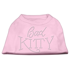 Mirage Pet Products Bad Kitty Rhinestud Shirt Light Pink S (10)