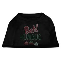 Mirage Pet Products Bah Humbug Rhinestone Dog Shirt Black  Sm (10)