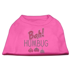 Mirage Pet Products Bah Humbug Rhinestone Dog Shirt Bright Pink XL (16)