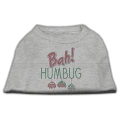 Mirage Pet Products Bah Humbug Rhinestone Dog Shirt Grey XXL (18)