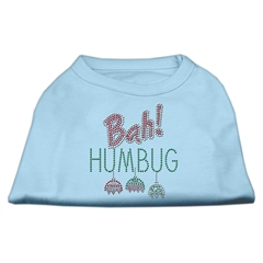 Mirage Pet Products Bah Humbug Rhinestone Dog Shirt Baby Blue XXXL (20)