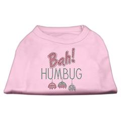 Mirage Pet Products Bah Humbug Rhinestone Dog Shirt Light Pink XL (16)