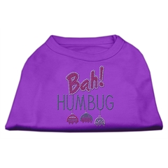 Mirage Pet Products Bah Humbug Rhinestone Dog Shirt Purple XL (16)