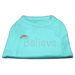 Mirage Pet Products Believe Rhinestone Shirts Aqua M (12)