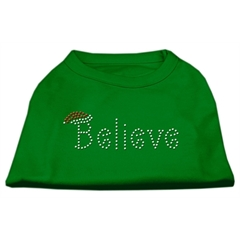 Mirage Pet Products Believe Rhinestone Shirts Emerald Green XS (8)
