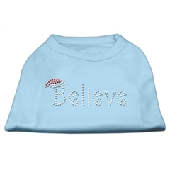Mirage Pet Products Believe Rhinestone Shirts Baby Blue L (14)