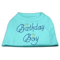 Mirage Pet Products Birthday Boy Rhinestone Shirts Aqua XXXL(20)