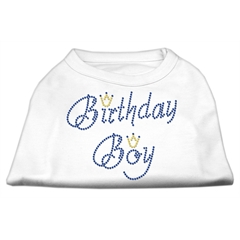 Mirage Pet Products Birthday Boy Rhinestone Shirts White XS (8)