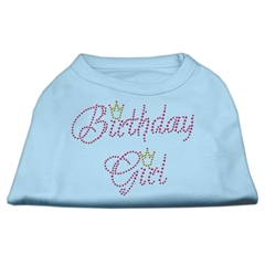 Mirage Pet Products Birthday Girl Rhinestone Shirt Baby Blue XXXL(20)