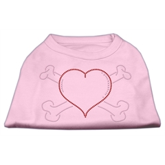 Mirage Pet Products Heart and Crossbones Rhinestone Shirts Light Pink S (10)