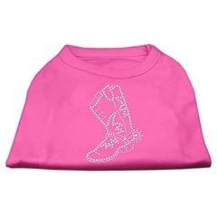 Mirage Pet Products Rhinestone Boot Shirts Bright Pink XXL (18)