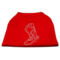 Mirage Pet Products Rhinestone Boot Shirts Red L (14)
